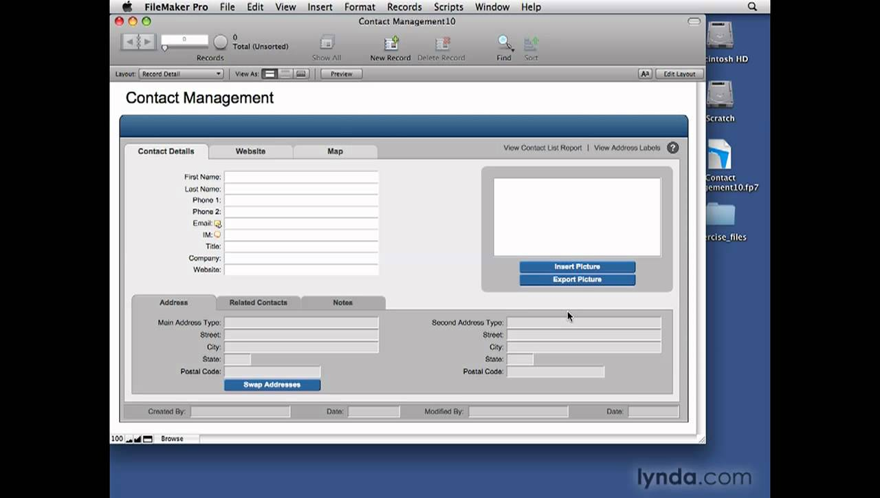 Filemaker Pro Templates   Filemaker Pro Creating Databases From Templates Lynda Com