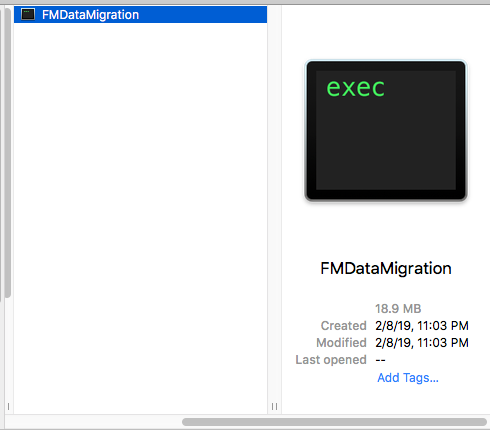 Picture of FMDataMigration Tool for FileMaker Data Migration