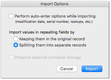 Repeating-Field-Import