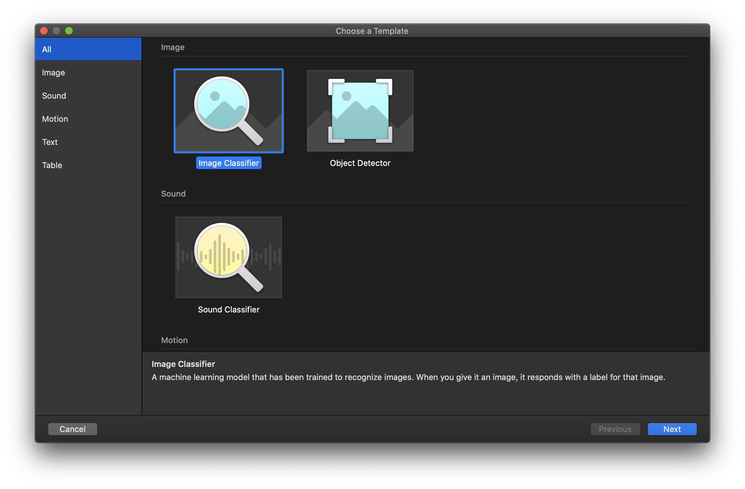 Create New FileMaker Machine Learning Project