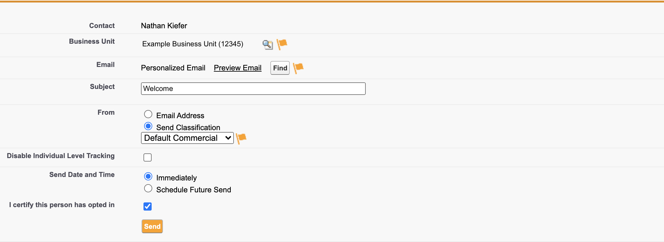 Send Marketing Cloud Email from Sales Cloud